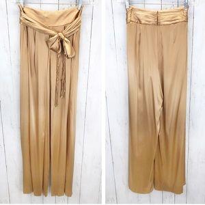 NWT Elie Tahari Toni Silk Wide Leg Pants 6 ::AB19